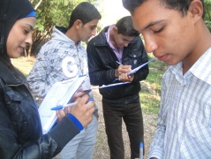 Young people from a Jordan Valley community took part in a recent community Geographic Information System youth course, learning how to plot environmental hazards using a GPS system.
