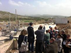 The delegation visits water treatment plants