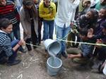 Participants doing environmental activities