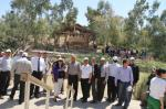 participant from the educational tour to the Auja Spring