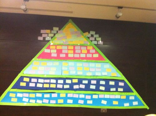 The final pyramid of expectations as they fit into our environmental pyramid!